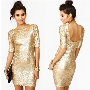 Ark & Co  | Nasty Gal Gold Sequin Dress